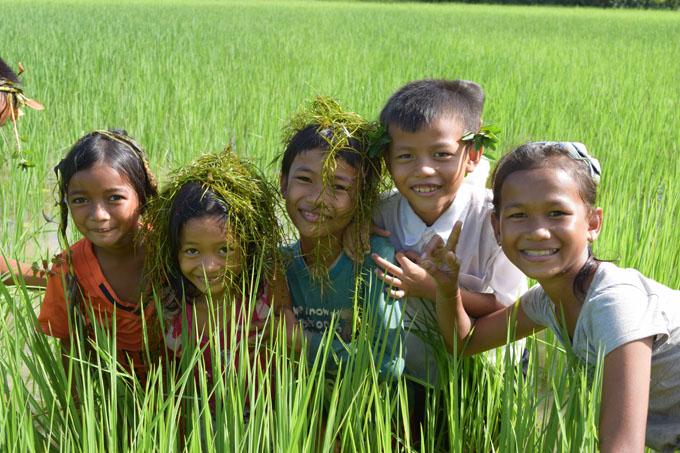 Kids Enjoying the green Season